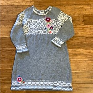 Hanna Andersson Floral Fair Isle Sweater Dress